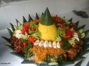 Pesanan Nasi Tumpeng Ibu Esya di Kebayoran Lama, Jakarta Selatan