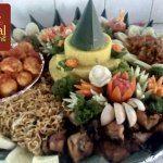 Nasi Tumpeng Pesanan Pak Rendy Untuk Pak Manuel di Kebayoran Baru , Jakarta Selatan