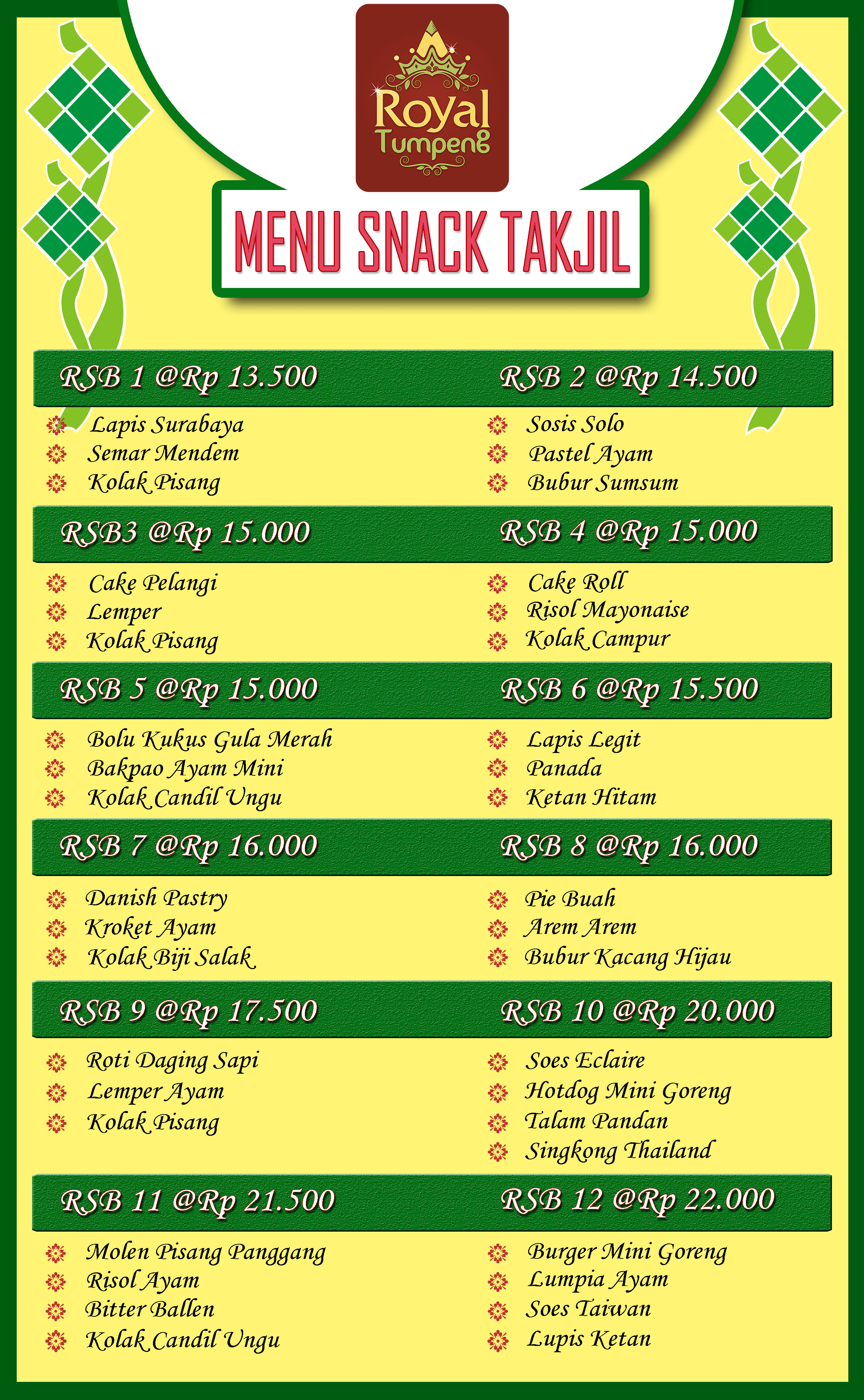 Paket Snack Takjil RT