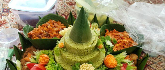 Pesanan Nasi Tumpeng Hijau Mba Syifa di Cibitung, Bekasi
