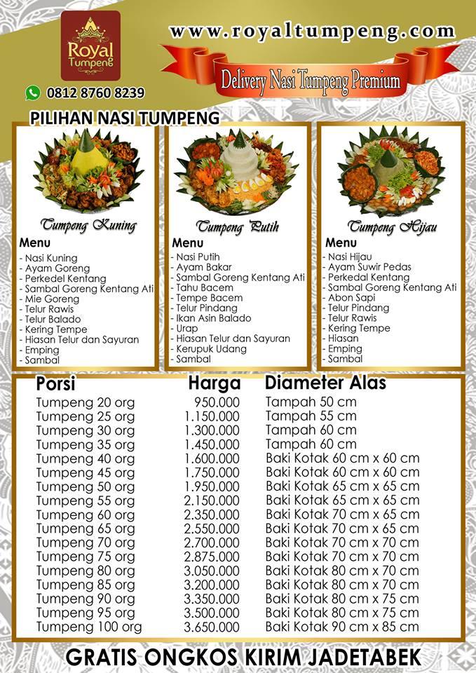 Harga Nasi Tumpeng di Jakarta